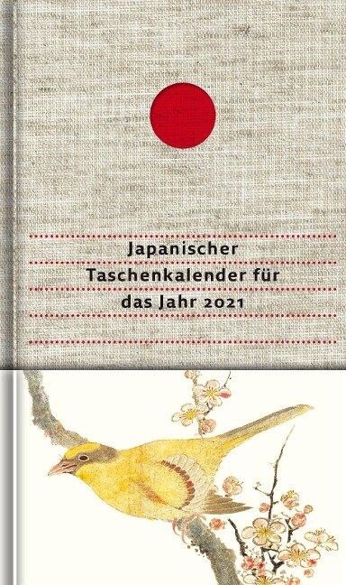Japanischer Taschenkalender für das Jahr 2021 -