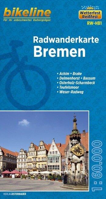 Bikeline Radwanderkarte Bremen 1 : 60 000 -