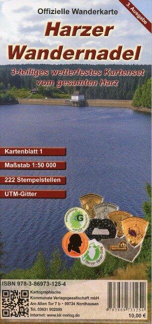 Harzer Wandernadel. 3 teiliges wetterfestes Kartenset 1 : 50 000