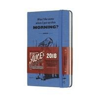 2018 Moleskine Alice In Wonderland Limited Edition Blue Pocket Weekly Notebook Diary 12 Months Hard -