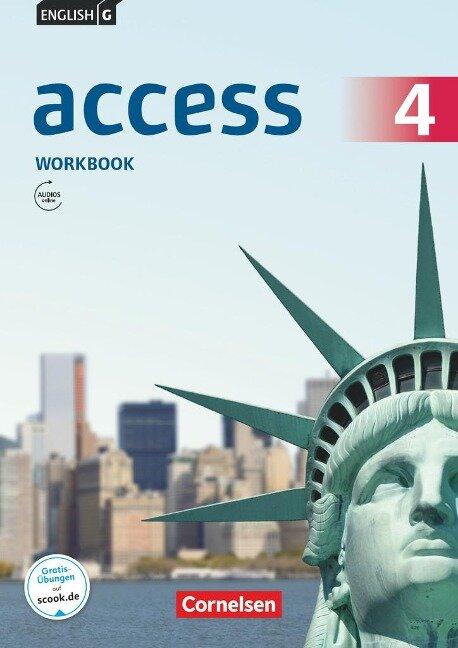 English G Access Band 4: 8. Schuljahr - Allgemeine Ausgabe - Workbook mit Audios online - Jennifer Seidl