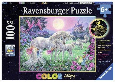 Einhörner im Mondschein. Color Star Line Puzzle 100 Teile XXL -
