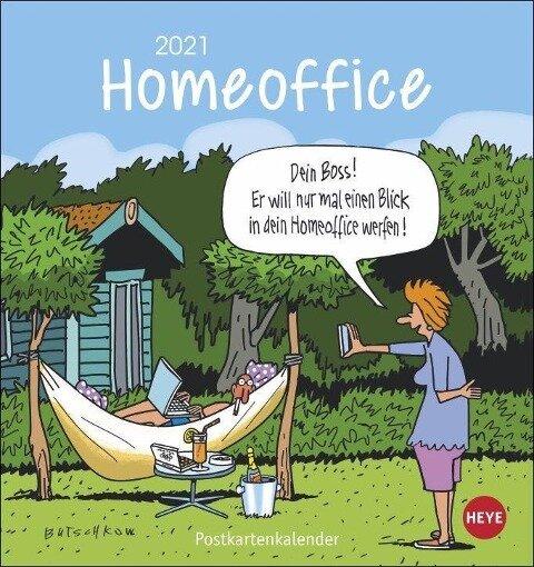 Homeoffice Postkartenkalender - Peter Butschkow