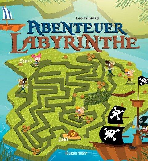 Abenteuer-Labyrinthe. Bunt und spannend. - Leo Trinidad