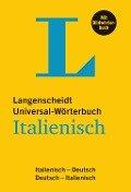 Langenscheidt Universal-Wörterbuch Italienisch - mit Bildwörterbuch -