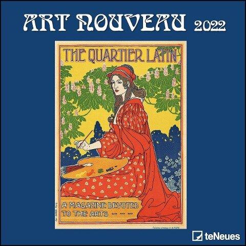 Art Nouveau 2022 - Wand-Kalender - 30x30 - 30x60 geöffnet -