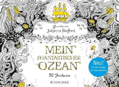 Mein Phantastischer Ozean - Postkartenbuch - Johanna Basford