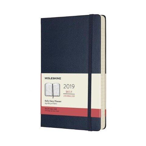 Moleskine Tageskalender, 12 Monate, 2019, Large/A5, Hard Cover, Saphir -