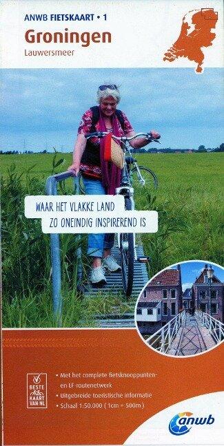 Radwanderkarte 01 Groningen, Lauwersmeer 1:50 000 -