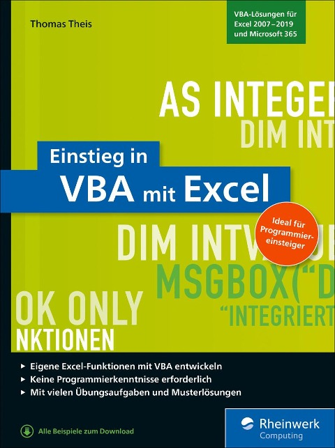 Einstieg in VBA mit Excel - Thomas Theis