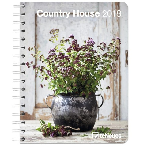Country House 16.5 x 21.6 Deluxe Diary 2018 -