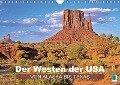 Der Westen der USA - von Alaska bis Texas (Wandkalender 2018 DIN A4 quer) - k. A. CALVENDO