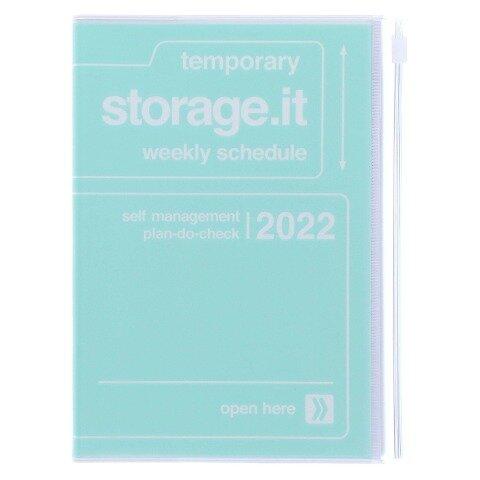 MARK'S 2021/2022 Taschenkalender B6 vertikal, Storage it // Mint -