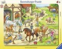 Auf dem Pferdehof - Puzzle mit 40 Teilen -