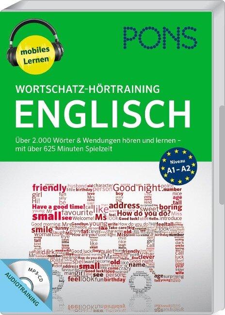 PONS Wortschatz-Hörtraining Englisch mit Begleitheft und MP3-CD -