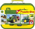 John Deere, Puzzle-Box, 2 x 60, 2 x 100 Teile im Metallkoffer -