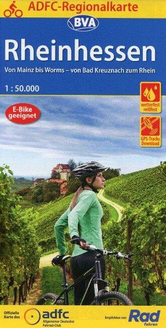 ADFC-Regionalkarte Rheinhessen, 1:50.000, reiß- und wetterfest, GPS-Tracks Download -