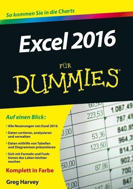 Excel 2016 für Dummies - Greg Harvey