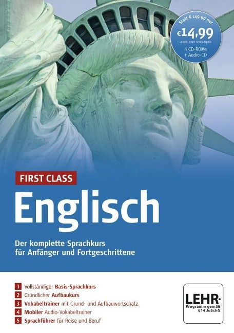 First Class Englisch. Paket: 4 CD-ROMs + Audio-CD -
