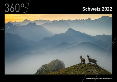 360° Schweiz Premiumkalender 2022 -