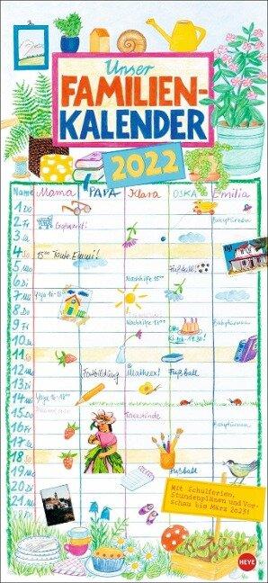 Gabi Kohwagner: Unser Familienkalender Kalender 2022 -