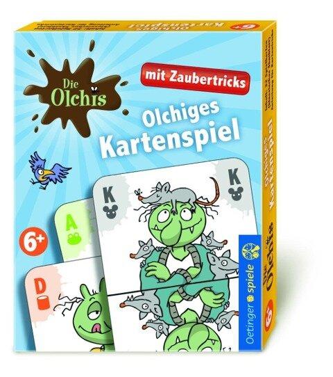 Die Olchis Kartenspiel mit Zaubertricks -