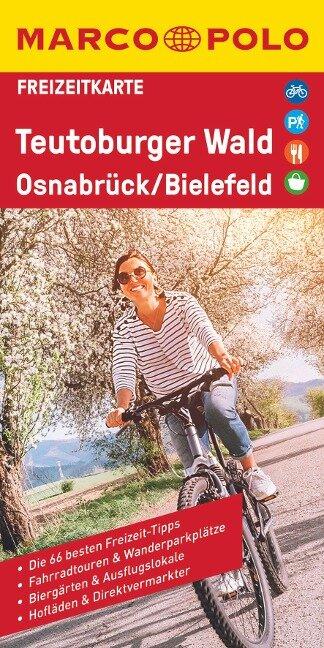 MARCO POLO Freizeitkarte Teutoburger Wald, Osnabrück, Bielefeld 1:100 000