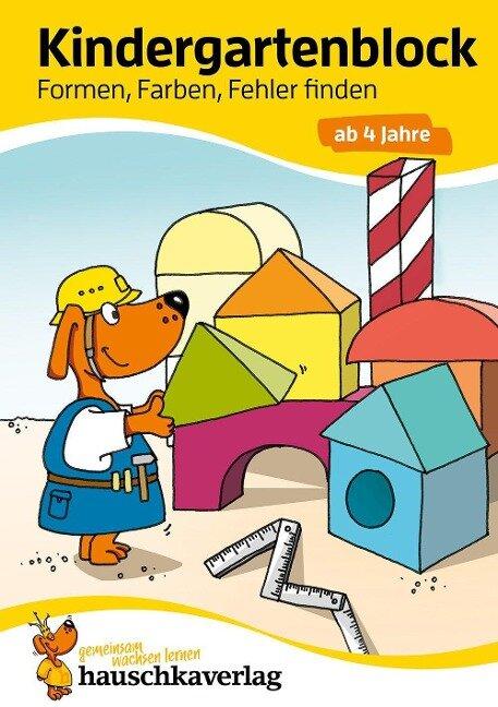 Kindergartenblock - Formen, Farben, Fehler finden ab 4 Jahre - Linda Neumann