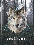 Brunnen Schülerkalender 2018/2019 Wolf Broschur-Einband A6 -