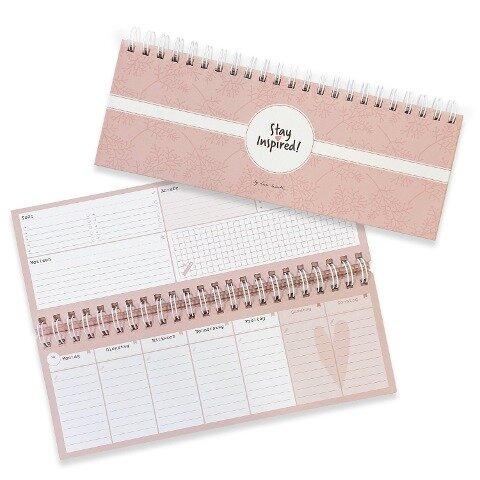 Tischkalender / Wochenkalender im Quer-Format / 52 Wochen, 1 Woche 2 Seiten / Tisch-Querkalender ohne festes Datum für 365 Tage / incl. Terminplaner, To-Do Liste, Notizen, Anrufe/Rückrufe - Lisa Wirth