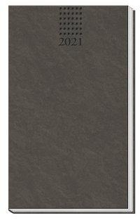 Taschenterminer Soft Touch Anthrazit 2021 mit Leseband -