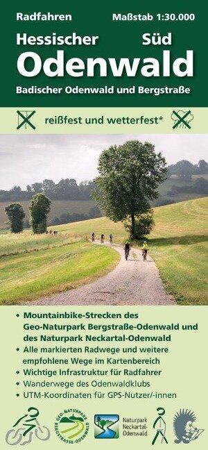 Radfahren, Hessischer Odenwald Süd / Badischer Odenwald und Bergstraße 1 : 30 000
