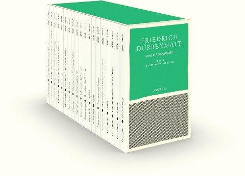 Das Prosawerk in 19 Bänden in Kassette - Friedrich Dürrenmatt