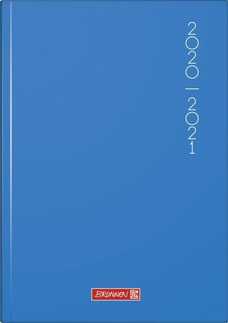 BRUNNEN 1072020111 Tageskalender/Schülerkalender 2020/2021 Plain Blue -