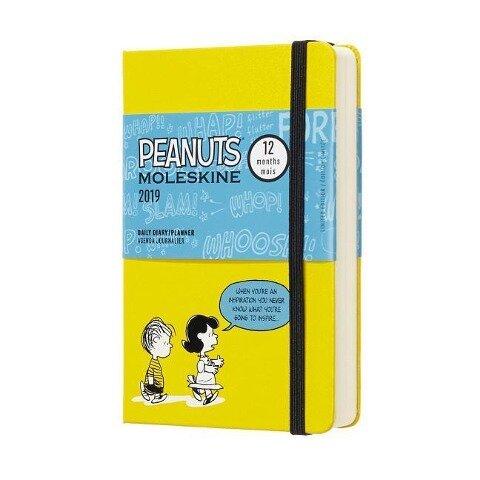 Moleskine Tageskalender, Peanuts, 12 Monate, 2019, Pocket/A6, Hard Cover, Gelb -