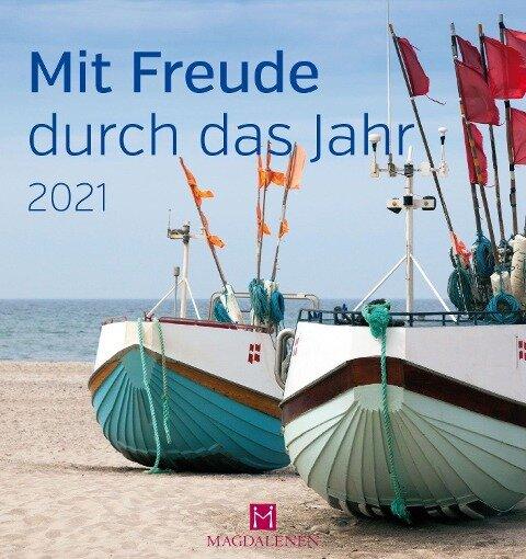 Mit Freude durch das Jahr 2021 Postkartenkalender -