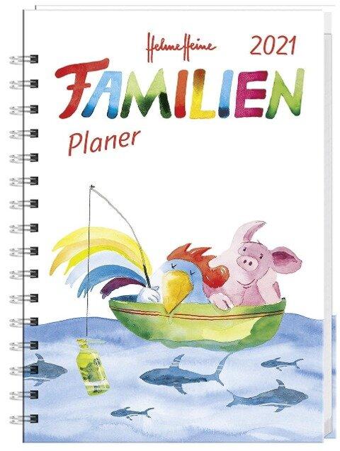 Helme Heine Familienplaner Buch A6 - Kalender 2021