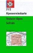 DAV Alpenvereinskarte 31/2 Stubaier Alpen Sellrain 1 : 25 000 Wegmarkierungen -