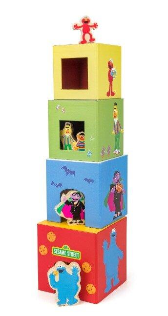 SESAMSTRASSE Stapelturm mit Figuren -