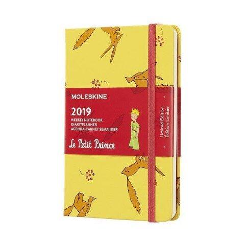 Moleskine Wochen Notizkalender, Der Kleine Prinz, 12 Monate, 2019, Pocket/A6, Hard Cover, Sonnenblumengelb -