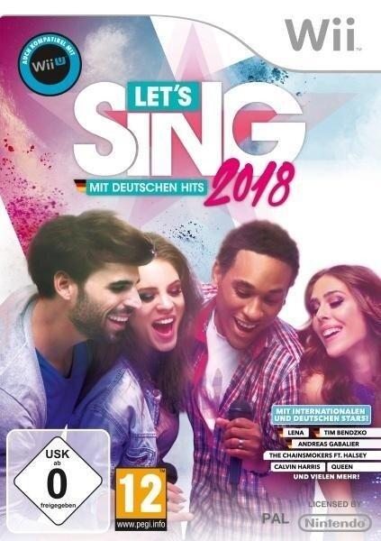 Let's Sing 2018 mit deutschen Hits + 2 Mikrofone (Nintendo Wii) -