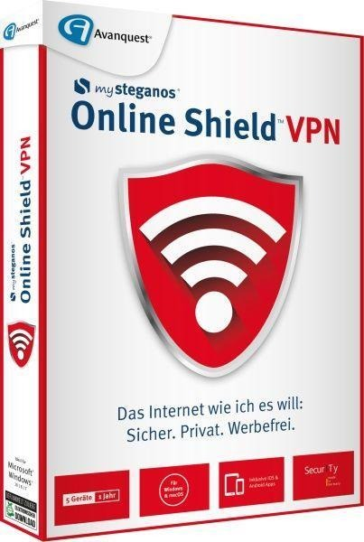 Steganos Online Shield VPN. Für Windows 8/10/MAC/Android/iOs -