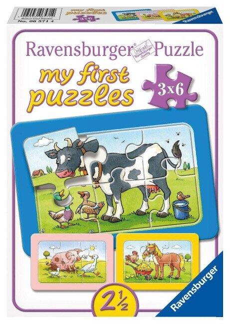 Gute Tierfreunde. My first puzzle - Rahmenpuzzle 3 x 6 Teile -