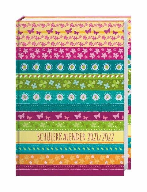 Streifen Floral Schülerkalender A5 Kalender 2022 -