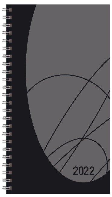 Taschenkalender Modus XL Flexi Colourlux schwarz 2022 -