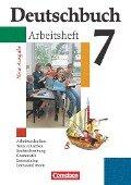 Deutschbuch Gymnasium 7. Schuljahr. Arbeitsheft mit Lösungen. Allgemeine Ausgabe. Neubearbeitung -