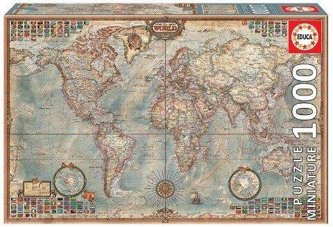 Educa - Weltkarte 1000 Teile Miniature Puzzle -