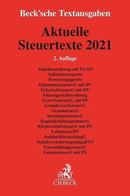 Aktuelle Steuertexte 2021 -