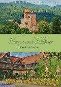 Burgen und Schlösser - Familienkalender (Tischkalender 2017 DIN A5 hoch) - Andrea Janke