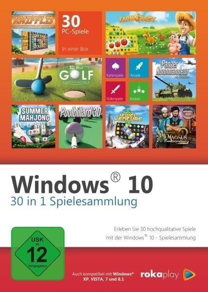 Windows 30 in 1 Spielesammlung - 2018. Für Windows Vista/7/8/10 -